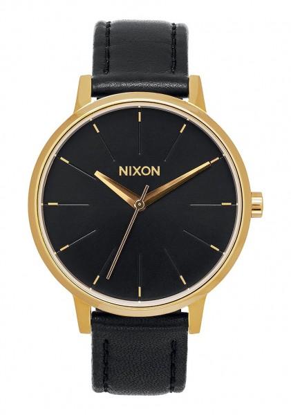 Nixon Kensington Leather 37mm Gold Black