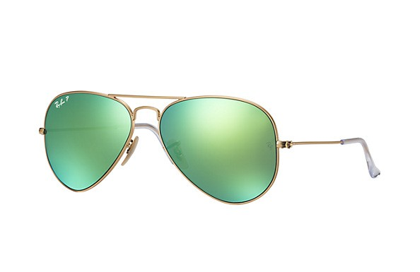 Ray-Ban RB3025 112/P9 Aviator Large Metal Flash Lenses Polarized