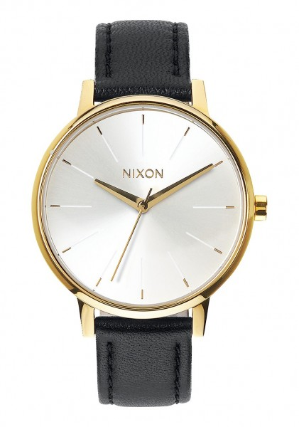 Nixon Kensington Leather 37mm Gold White Black